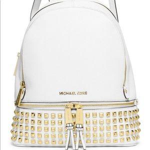White MK backpack
